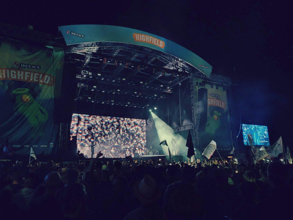 Bild: Thirty Seconds to Mars, Frontsänger Jared Leto, Highfield Festival 2019 - Sunset Music