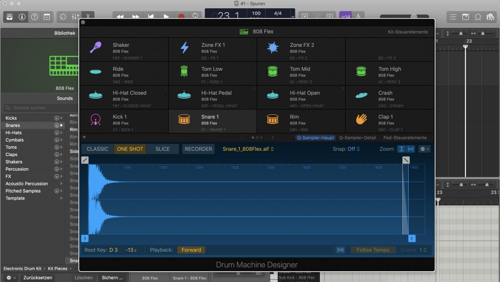 Drum Machine Designer in Logic Pro X - Sunset Music