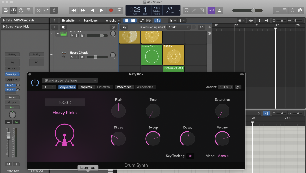 Drum Synth in Logic Pro X - Sunset Music