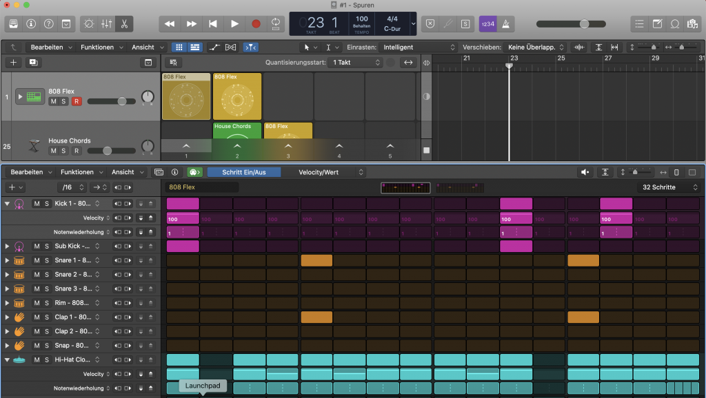 Step Sequencer in Logic Pro X - Sunset Music